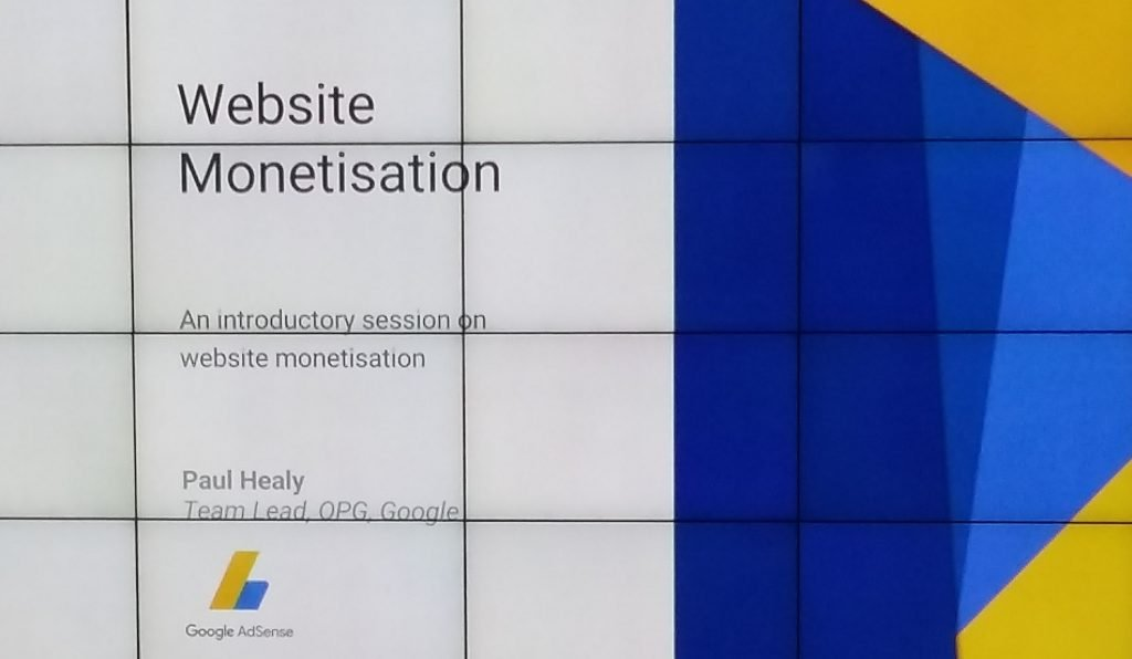 Google Breakfast Briefing Monitisation