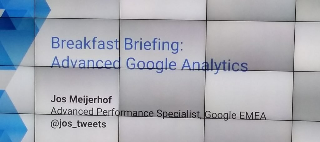 Google Advanced Analytcis